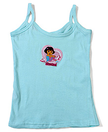 Dora Printed Singlet Slip - Light Blue