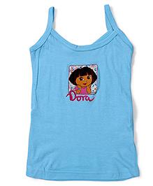 Dora Printed Singlet Slip - Blue
