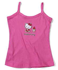 Hello Kitty Singlet Slip - Dark Pink