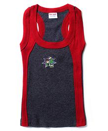 Red Rose Sleeveless Vest Ben 10 Print - Navy Grey