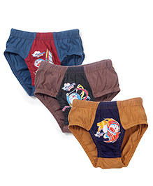 Doraemon Printed Briefs Set of 3 - Blue Brown Yellow