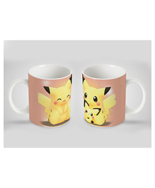 Stybuzz Kids Ceramic Mug Pikachu Print Light Brown 300 Ml - Single Piece