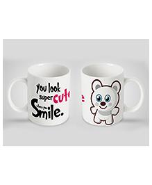 Stybuzz Kids Ceramic Mug Cute Smile Print Multicolor 300 Ml - Single Piece