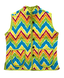 Amber Jaipur Reversible Quilted Jacket - Multicolour
