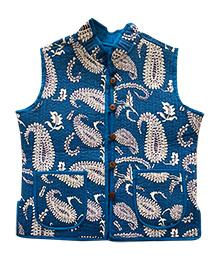 Amber Jaipur Reversible Quilted Jacket - Blue