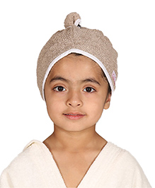 Mumma's Touch Organic Cotton Kids Hair Wrap Towel – Beige