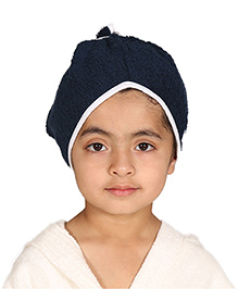 Mumma's Touch Organic Cotton Kids Hair Wrap Towel – Navy