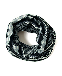 Little Hip Boutique Tribal Print Neck Warmer - Black & Grey
