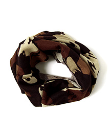 Little Hip Boutique Abstract Print Neck Warmer - Brown