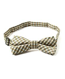 Little Hip Boutique Plaid Pattern Bow Tie - Beige & Black