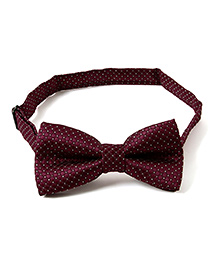 Little Hip Boutique Sheen Bow Tie - Wine Red