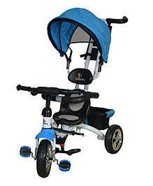 Sunbaby Tricycle With Push Handle Blue Black - SB TC 1100