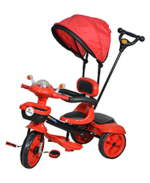 Sunbaby Tricycle With Push Handle Red Black - SB TC 1101