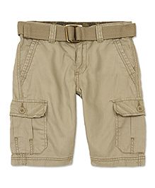 LEVIS Plain Cargo Shorts With Belt - Beige