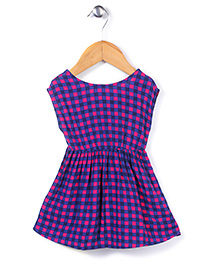UCB Sleeveless Check Frock - Blue Pink