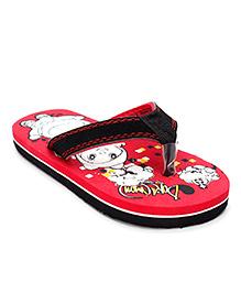 Doraemon Flip Flops With Back Strap - Red