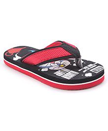 Doraemon Flip Flops - Red Black