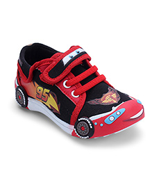 Disney Pixar Sports Shoes Piston Cup Print - Red and Black
