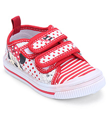 Disney Sneakers Minnie Mouse Print - Red and White