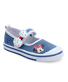 Disney Sneakers Minnie Mouse Print - Blue and White