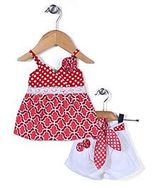 Little Kangaroos Singlet Style Top & Shorts - Red