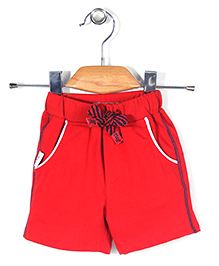 Little Kangaroos Casual Shorts Side Stripes Print - Red