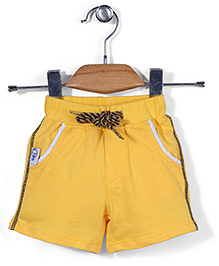 Little Kangaroos Casual Shorts Side Stripes Print - Yellow