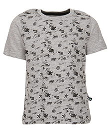 Bells and Whistles Short Sleeves Printed T-Shirt - Grey