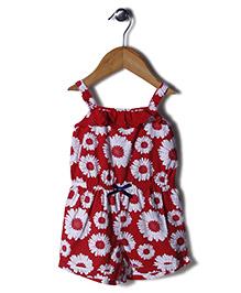Beebay Floral Print Singlet Jumpsuit - Red