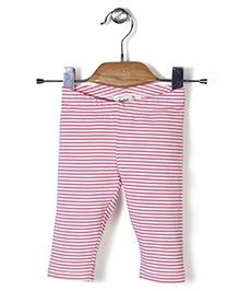 Beebay Striped Full Length Leggings - Pink