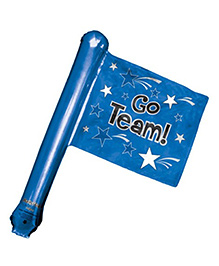 Planet Jashn Go Team Blue Rally Flag Air Filled