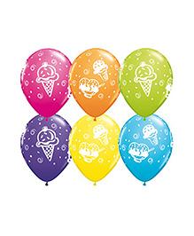 Planet Jashn Ice Cream Treats Latex Balloons - Pack Of 10