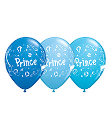 Planet Jashn Baby Prince Latex Balloons - Pack Of 10