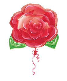 Planet Jashn Blooming Rose - Red And Green