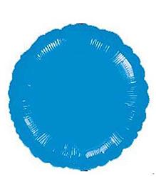 Planet Jashn Circle Shape Foil Balloons - Metallic Blue