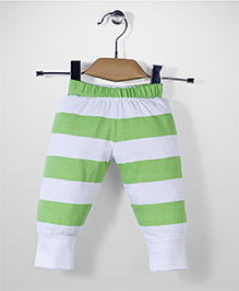Babyhug Stripe Leggings - White Green