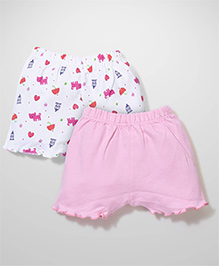 Ben Benny Shorts Multiprint Pink And White - Pack Of 2