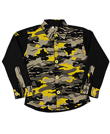 ShopperTree Full Sleeves Shirt - Yellow Black