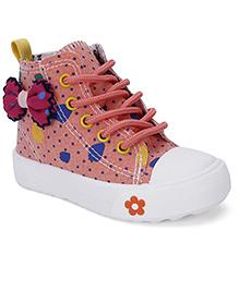 Cute Walk Party Wear Slip-On Shoes Bow Applique - Light Orange