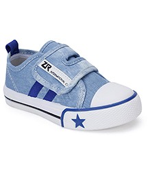 Cute Walk Casual Shoes With Velcro Closure Star Design - Light Blue