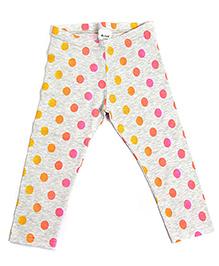 bio kid 3/4th Polka Dotted Leggings - Multi Color