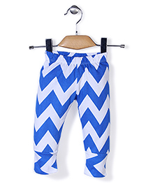 Babyhug Full Length Leggings Abstract Print - Blue