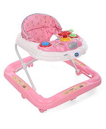 Happy Baby Walker Musical Walker - Pink