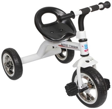 Fab N Funky White Color Tricycle - White N Black