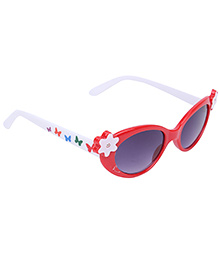 Stol'n Kids Sunglasses Flower Motif - Red And White