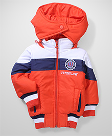 Babyhug Full Sleeves Hooded Jacket - Orange