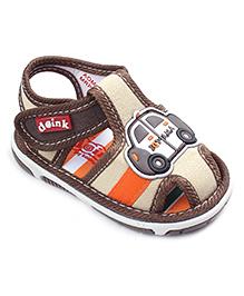 Doink Casual Shoes Car Applique - Beige