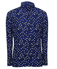 bio kid Full Sleeves Dotted Sweat Top - Dark Blue