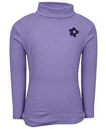 bio kid Full Sleeves Sweat Top Floral Applique - Purple