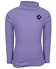 bio kid Full Sleeves Sweat Top Floral Applique - Purple